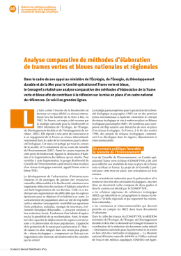 Analyse comparative de méthodes d`élaboration de Trames vertes
