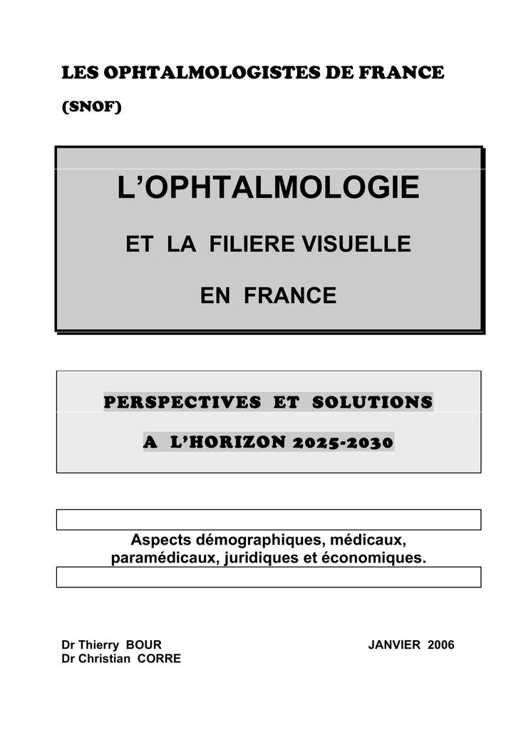 L`OPHTALMOLOGIE 4d83770557a8