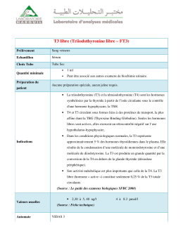 Triiodothyronine libre – FT3