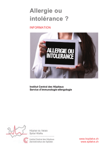 Allergie ou intolérance