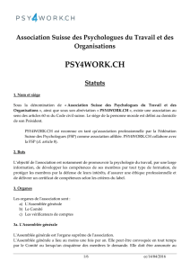 Association suisse de Psychologie du Travail