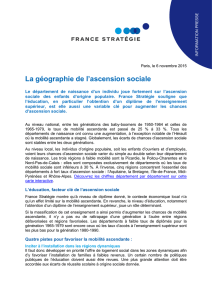 La géographie de l`ascension sociale