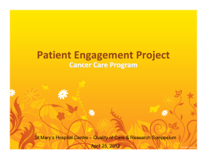 Patient Engagement Project - St