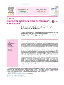 Invagination intestinale aiguë du nourrisson et de - chu