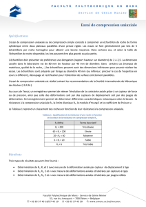 Essai de compression uniaxiale