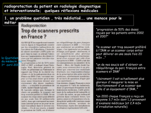 radioprotection du patient en radiologie