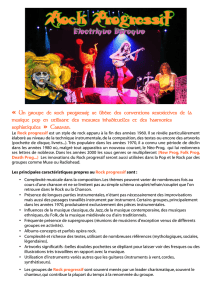 « Un groupe de rock progressif se libère des conventions restrictives