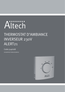 thermostat d`ambiance inverseur 230v alert21