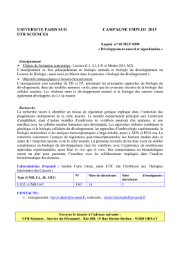 BIO 64MCF298 - Université Paris-Sud