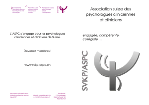 Association suisse des psychologues cliniciennes et