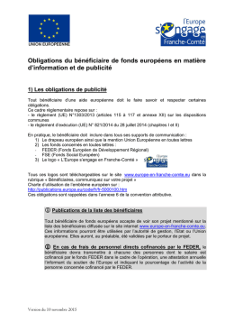 obligations communication - L`Europe en Franche