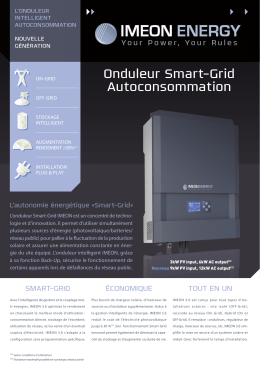 Onduleur Smart-Grid Autoconsommation