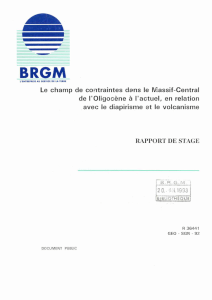 rapport de stage - Infoterre