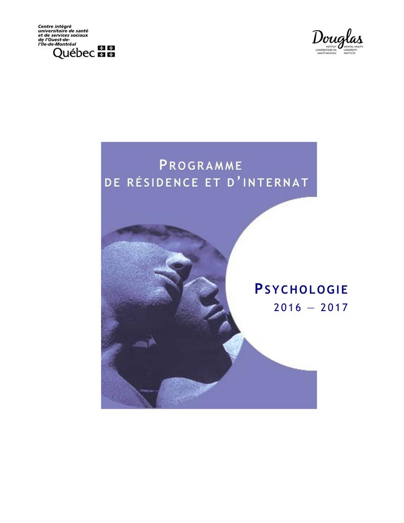 PSYCHOLOGIE Institut universitaire en santé mentale Douglas