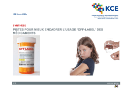 `off-label` des médicaments