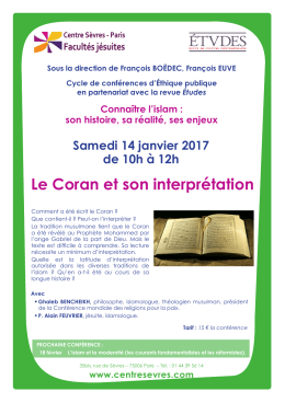 Le Coran et son interprétation