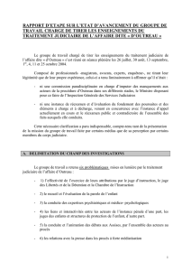 A. DELIMITATION DU CHAMP DES INVESTIGATIONS