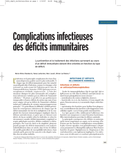 Complications infectieuses des DIH