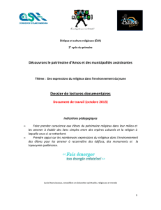 Dossier de lectures documentaires