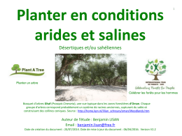 Planter en conditions arides et salines