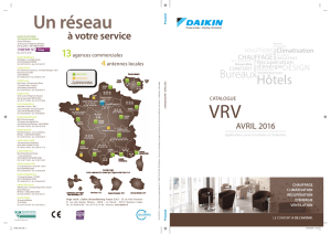 Télécharger catalogue vrv 2016 Daikin