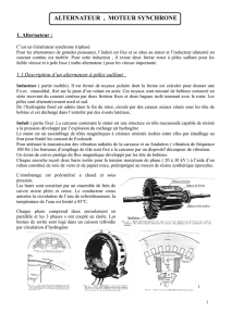 ALTERNATEUR , MOTEUR SYNCHRONE