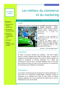 Les métiers du commerce et du marketing
