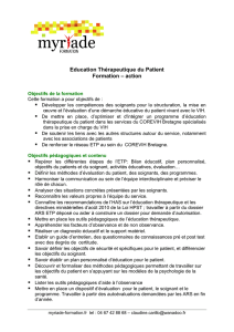Education Thérapeutique du Patient Formation – action
