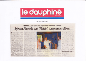 "SylvainAlmeida sort ""Plaisir"", son premier album"