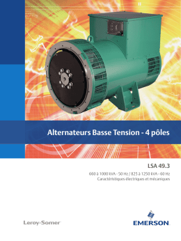 Alternateurs Basse Tension 4P LSA 49.3 Réf. 5279_fr