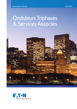 Catalogue onduleurs triphasés Eaton