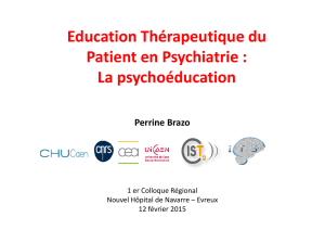 Education Thérapeutique du Patient en Psychiatrie : La