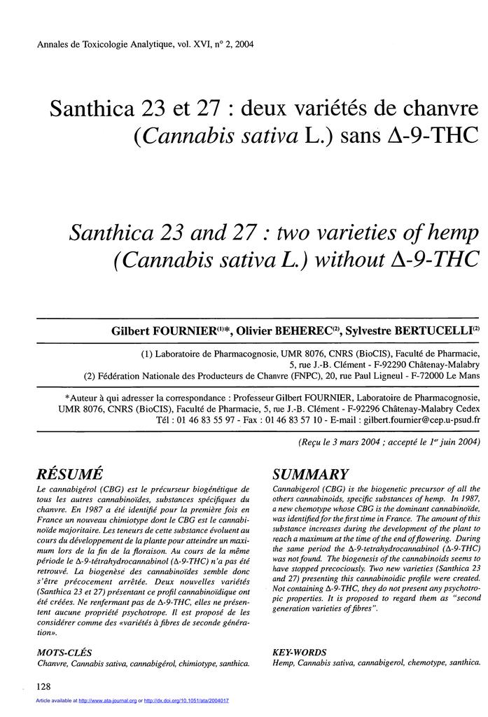 Annales de Toxicologie Analytique