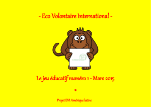 Mars 2015 - Eco Volontaire International