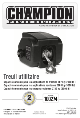 Treuil utilitaire - Champion Power Equipment