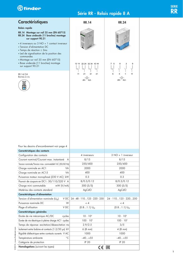 2x 9 V Mini Puissance Relais inverseurs 15 A