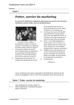 Potter, sorcier du marketing