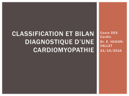 classification des cardiopathies