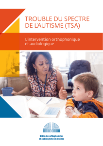 Trouble du spectre de l`autisme (TSA) – L`intervention