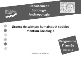 mention Sociologie - Université Toulouse