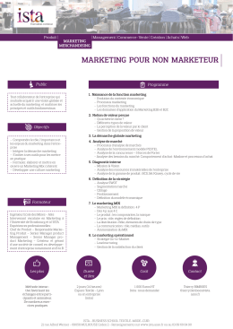 MARKETING POUR NON MARKETEUR