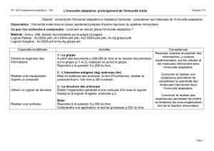 L`immunité adaptative, prolongement de l`immunité