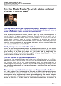 Interview Claude Onesta :