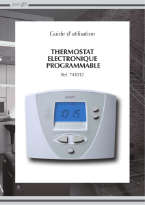 thermostat electronique programmable