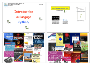 Introduction au langage Python3