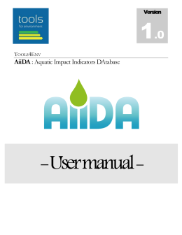 AiiDA Database - Tools for Environment