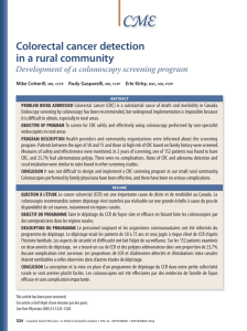CME Colorectal cancer detection in a rural community