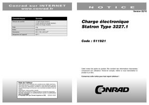 Charge électronique Statron Type 3227.1 Code
