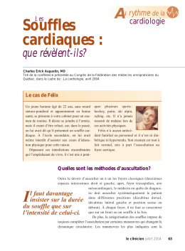 Les souffles cardiaques - STA HealthCare Communications