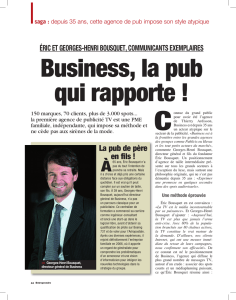 Business, la pub qui rapporte !